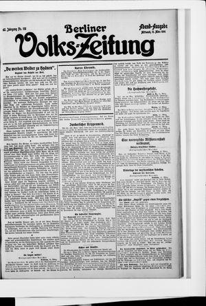 Berliner Volkszeitung vom 11.03.1914