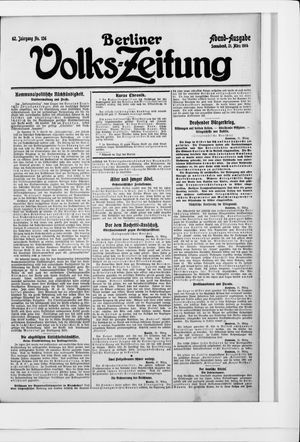 Berliner Volkszeitung on Mar 21, 1914