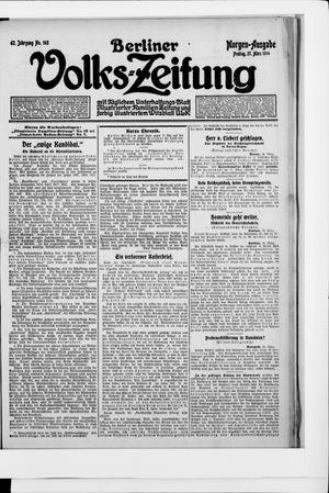 Berliner Volkszeitung vom 27.03.1914