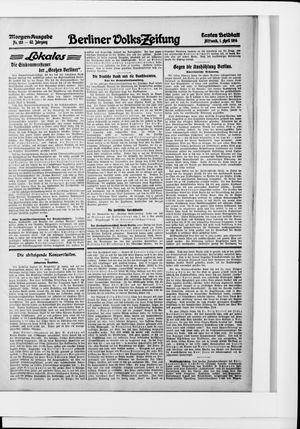 Berliner Volkszeitung vom 01.04.1914