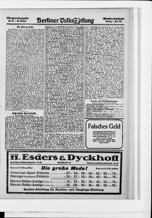 Berliner Volkszeitung vom 07.04.1914