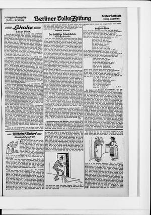 Berliner Volkszeitung vom 12.04.1914