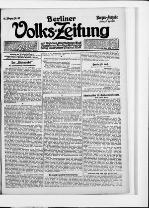 Berliner Volkszeitung vom 17.04.1914