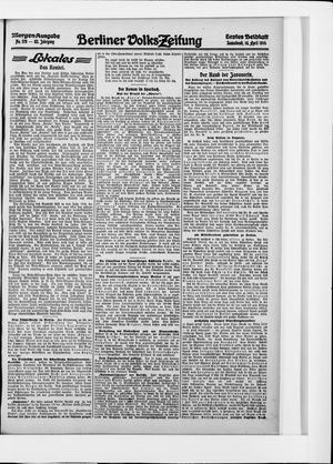 Berliner Volkszeitung vom 18.04.1914