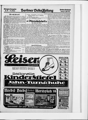 Berliner Volkszeitung vom 19.04.1914