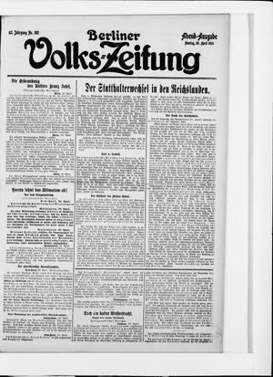 Berliner Volkszeitung vom 20.04.1914