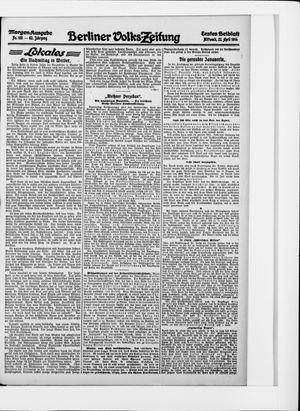 Berliner Volkszeitung vom 22.04.1914