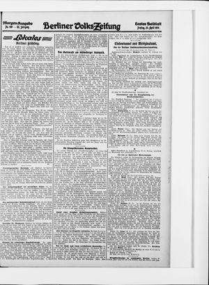 Berliner Volkszeitung vom 24.04.1914