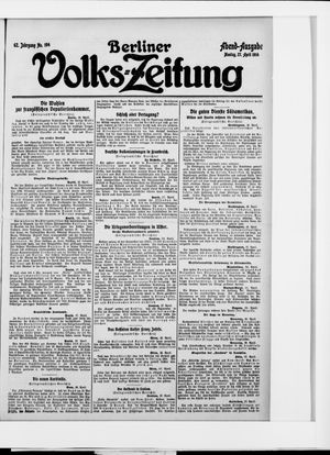 Berliner Volkszeitung vom 27.04.1914