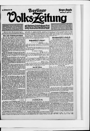 Berliner Volkszeitung on Apr 30, 1914