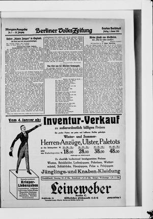 Berliner Volkszeitung vom 01.01.1915
