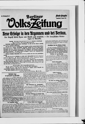 Berliner Volkszeitung vom 02.01.1915