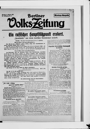 Berliner Volkszeitung vom 04.01.1915