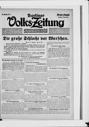 Berliner Volkszeitung vom 05.01.1915