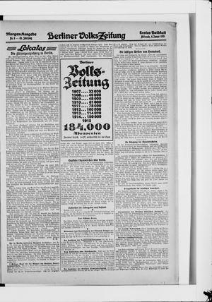 Berliner Volkszeitung vom 06.01.1915