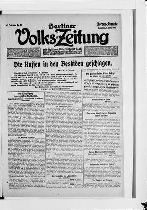 Berliner Volkszeitung on Jan 9, 1915