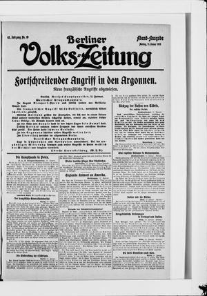 Berliner Volkszeitung vom 11.01.1915