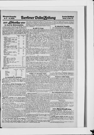 Berliner Volkszeitung vom 12.01.1915