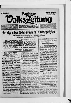 Berliner Volkszeitung vom 16.01.1915