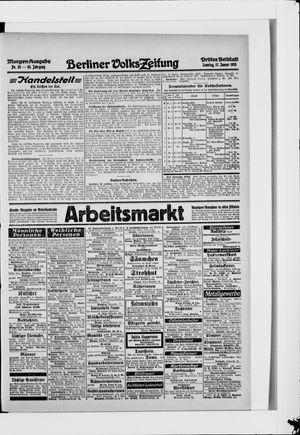 Berliner Volkszeitung vom 17.01.1915