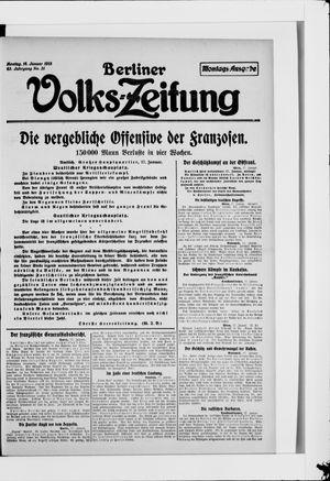 Berliner Volkszeitung vom 18.01.1915