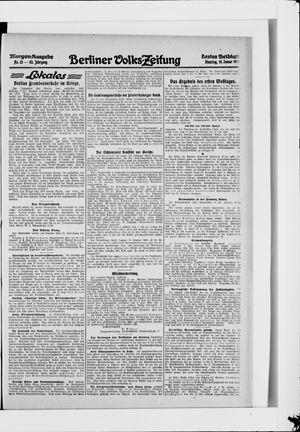 Berliner Volkszeitung vom 19.01.1915