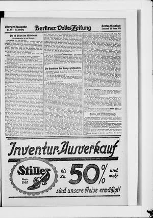 Berliner Volkszeitung on Jan 23, 1915