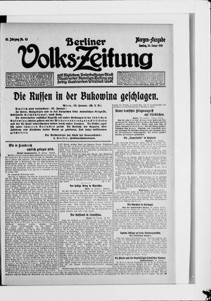 Berliner Volkszeitung vom 24.01.1915