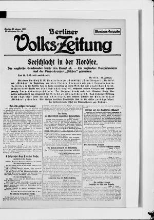 Berliner Volkszeitung vom 25.01.1915