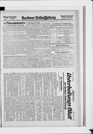 Berliner Volkszeitung vom 26.01.1915