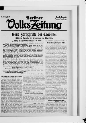 Berliner Volkszeitung vom 28.01.1915