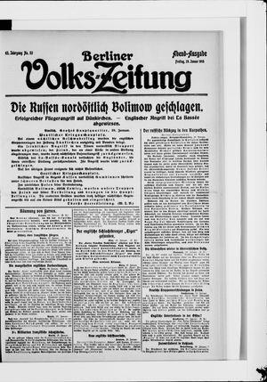Berliner Volkszeitung vom 29.01.1915