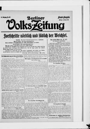 Berliner Volkszeitung vom 01.02.1915