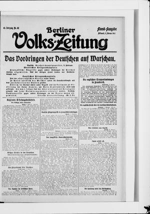 Berliner Volkszeitung vom 03.02.1915