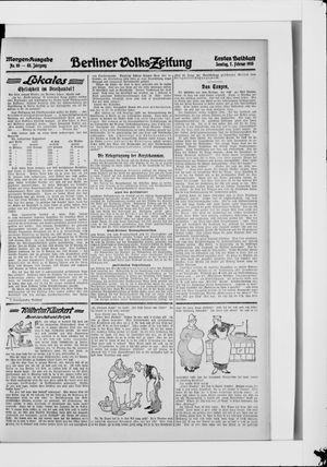 Berliner Volkszeitung vom 07.02.1915