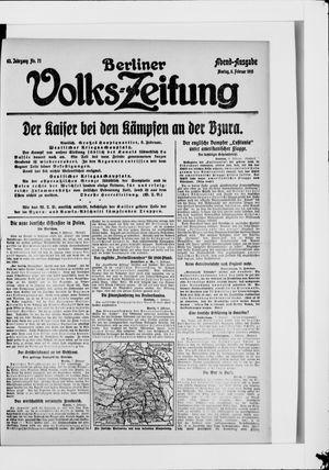 Berliner Volkszeitung vom 08.02.1915
