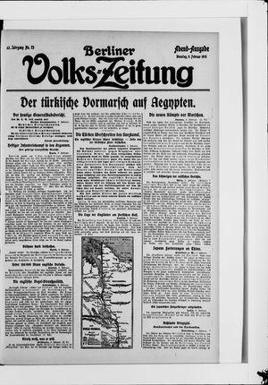 Berliner Volkszeitung vom 09.02.1915