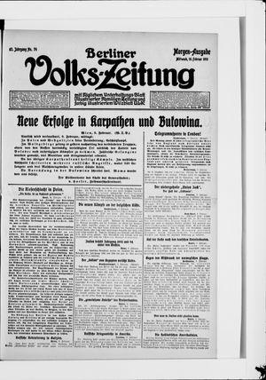 Berliner Volkszeitung vom 10.02.1915