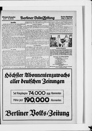 Berliner Volkszeitung vom 12.02.1915