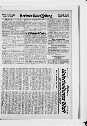 Berliner Volkszeitung vom 13.02.1915