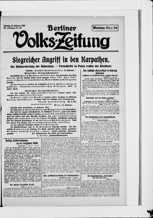 Berliner Volkszeitung vom 15.02.1915