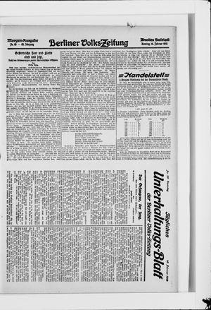 Berliner Volkszeitung vom 16.02.1915