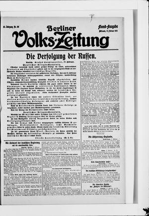 Berliner Volkszeitung vom 17.02.1915
