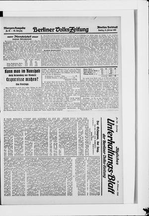 Berliner Volkszeitung vom 21.02.1915
