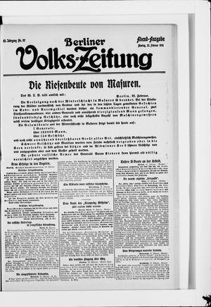 Berliner Volkszeitung vom 22.02.1915