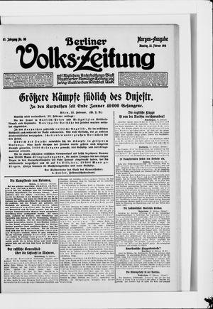 Berliner Volkszeitung vom 23.02.1915