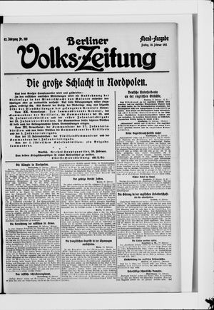 Berliner Volkszeitung vom 26.02.1915