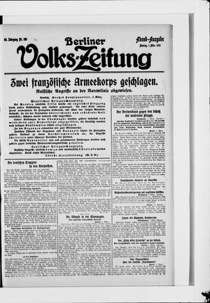 Berliner Volkszeitung on Mar 1, 1915