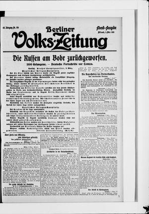 Berliner Volkszeitung vom 03.03.1915
