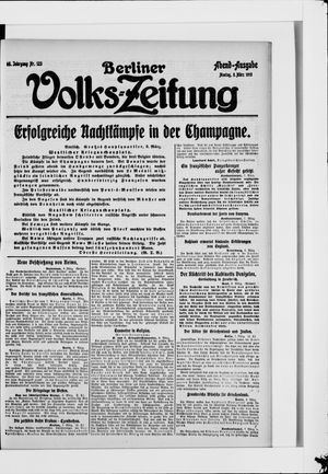 Berliner Volkszeitung vom 08.03.1915